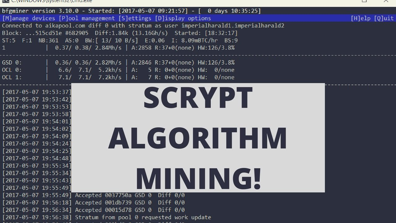 scrypt mining cryptocurrencies